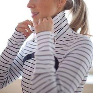 🦓 Lululemon Quiet Stripe zip-up